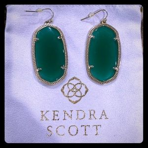 Kendra Scott classic green Danielle earrings